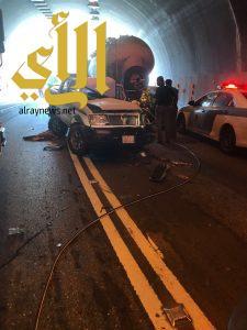 مصرع شخصين وإصابة آخرين بحادث مروري بعقبة الملك فهد بالباحة