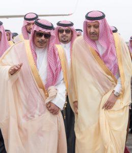 الأمير حسام بن سعود يصل إلى الباحة لمباشرة مهامه أميراً للمنطقة