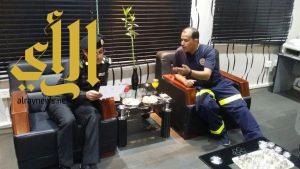 مدير العمليات الأمنية بالمدينة المنورة يزور عمليات الهلال الأحمر