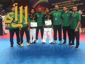 أخضر التايكوندو يحصد فضية وبرونزية في المنافسات الآسيوية