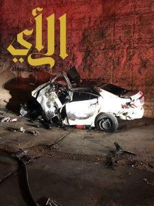 مصرع أربعة أشخاص بحادث تصادم على طريق مكة بالرياض