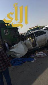 إصابة أربعة أشخاص بحادث مروري على طريق الياقوت بعزيزية الرياض