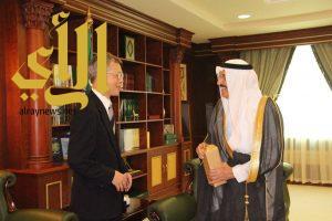 أمير جازان يستقبل معالي السفير الياباني لدى المملكة