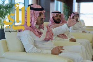 معالي مدير جامعة الباحة يستقبل محافظ العقيق