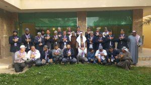 رواد كشافة المحافظات المتجاورة يختتمون اجتماعهم في المجمعة