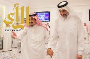خادم الحرمين يستقبل الشيخ عبدالله بن علي آل ثاني