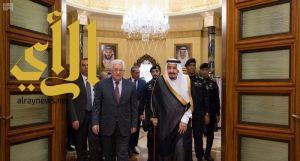 الملك سلمان يستقبل رئيس دولة فلسطين