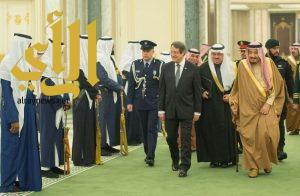 خادم الحرمين الشريفين يستقبل رئيس قبرص