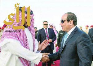 سمو ولي العهد يتلقى اتصالاً هاتفياً من الرئيس المصري