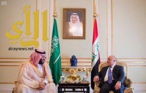ولي العهد يلتقي رئيس وزراء العراق