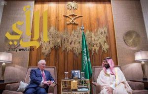 ولي العهد يبحث مع وزير الخارجية الأمريكي تطورات الأوضاع الإقليمية