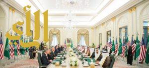 خادم الحرمين الشريفين يعقد جلسة مباحثات رسمية مع ترمب