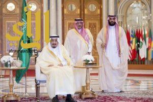 خادم الحرمين يستقبل قادة الدول المشاركين في القمة العربية الإسلامية الأمريكية