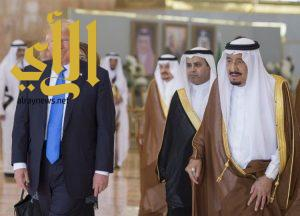 الملك سلمان يستقبل ترامب في قصر اليمامة