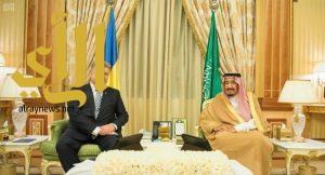 خادم الحرمين الشريفين يعقد جلسة مباحثات رسمية مع رئيس جمهورية أوكرانيا